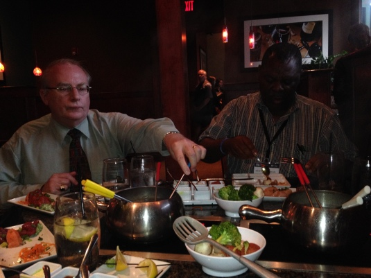 Tom and Geofrey at the Melting Pot