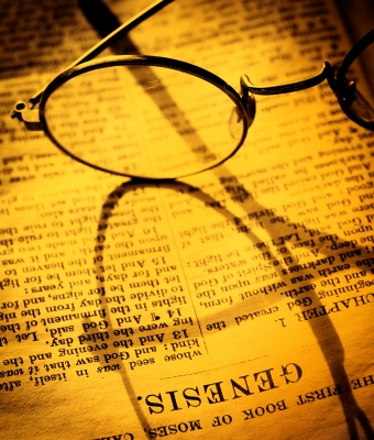 Bible-Genesis with glasses