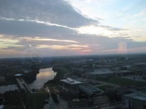 View at dusk Indianapolis
